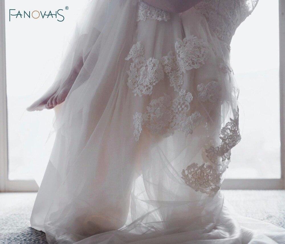 Beach Boho svatební šaty rukávy Vintage Plus velikost Lace - Svatební šaty - Fotografie 3