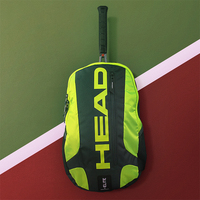 HEAD Tennis Racket Gym Bag Male Racquet Sports Backpack Genuine New Shuttlecock Squash Badminton Pack Capacity 2 Pcs