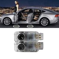 2X 4X LED Luzes de Cortesia Projetor Laser Santo Sombra Luz Logotipo Porta Do Carro Lâmpada para Audi A1 A3 A4 A5 A6 A6L A8 A4L Q5 Q7 R8 TT