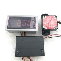 US208MA FS200A 1-25L/Min Digitale Flow Sensor Electronic Flow Meter En Alarmer Debiet Display Frequentie Teller Isentrol