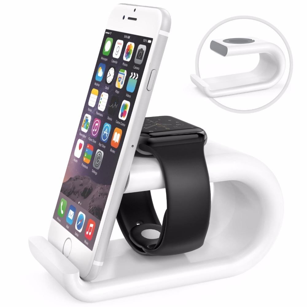 Acrylic Charging Dock Station Bracket Cradle Stand Holder Charger For IPhone 5c 5s 6 6s For