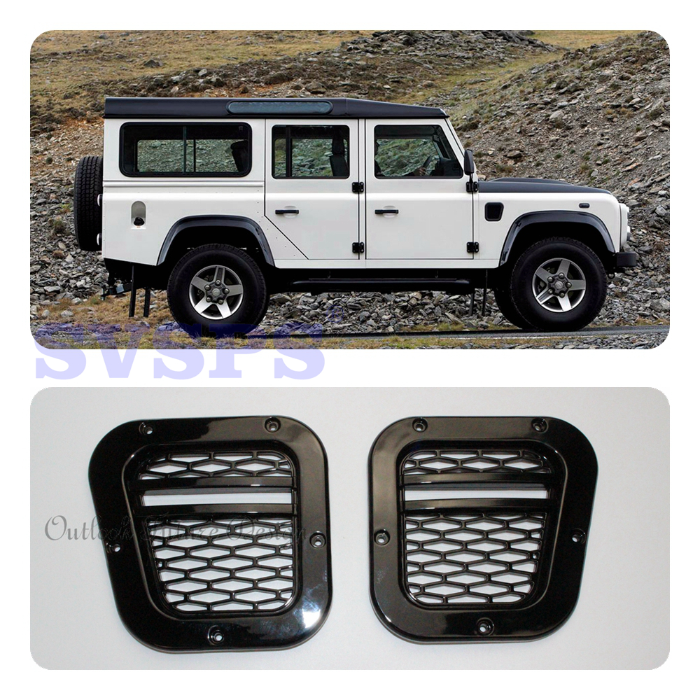 цена на SVSPS tuning parts Car Styling Auto Parts KBX style Side vents Air vents Fit For Land Rover Defender 90 110 vehicle all years