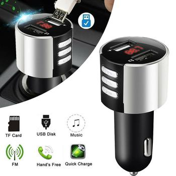 Modulator Usb Car Charger Bluetooth Car FM Transmitter Radio Adapter USB Charger MP3 Player Quick Charge Ladowarka Samochodowa image