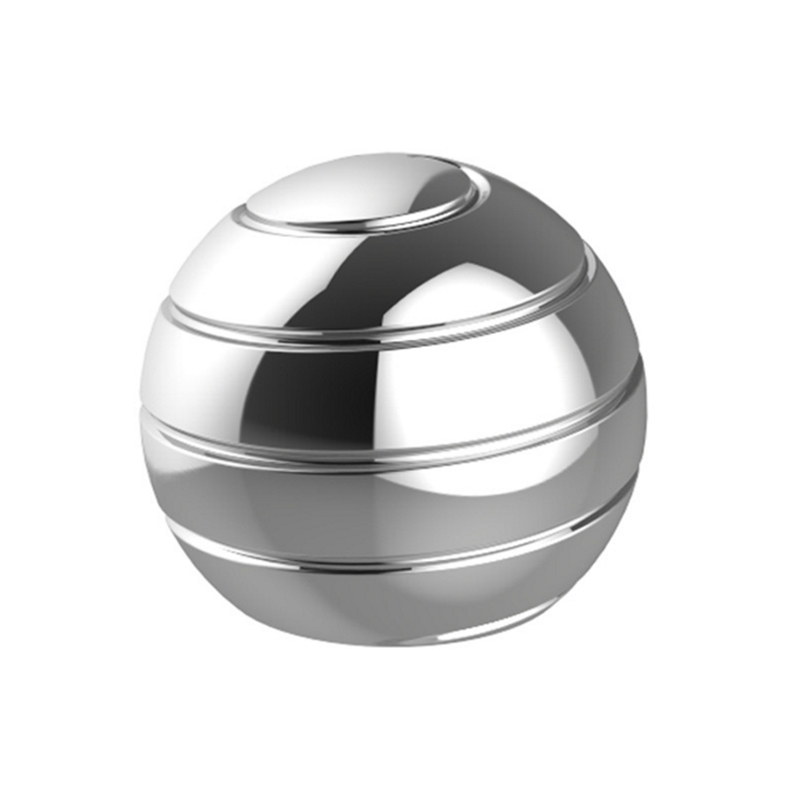 Vortecon Desktop Anti Stress Toy Aluminum Alloy Decompression Hypnosis Rotary Gyro Adult Fingertip Toy Round Metal Spinner Gift