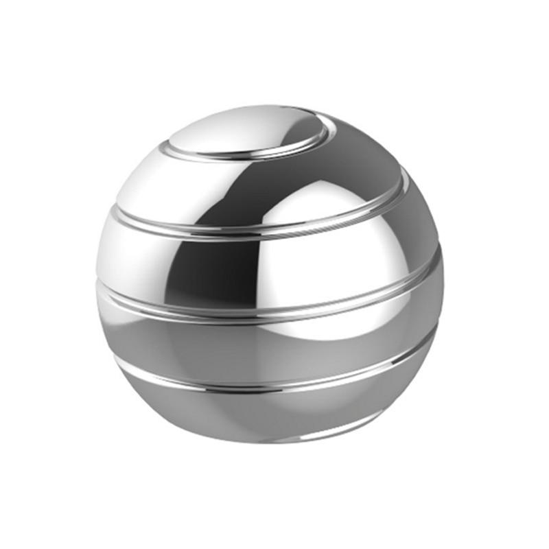 Vortecon Desktop Anti Stress Toy Aluminum Alloy Decompression Hypnosis Rotary Gyro Adult Fingertip Toy Round Metal Spinner Gift