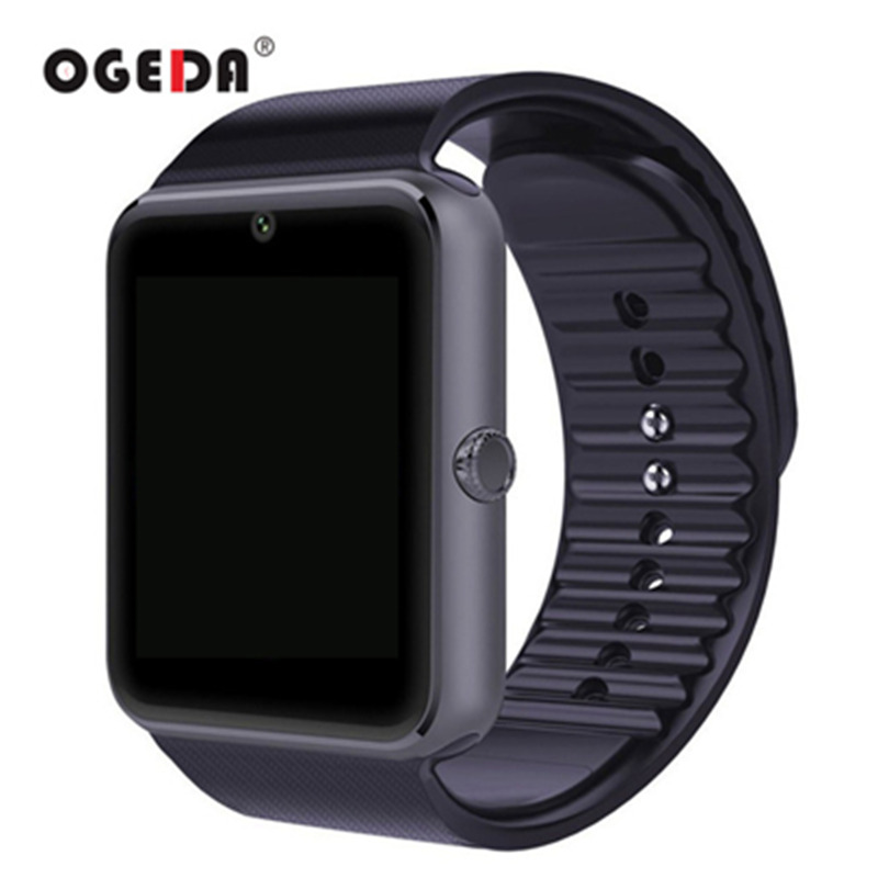 OGEDA Smart Fashion Watch Men GT08 Sync Notifier Support Sim Card Bluetooth Connectivity for IOS Android Smartwatch Rubber Watch 696 smart watch gt08 clock sync notifier support sim tf card bluetooth connectivity android phone smartwatch alloy smartwatch