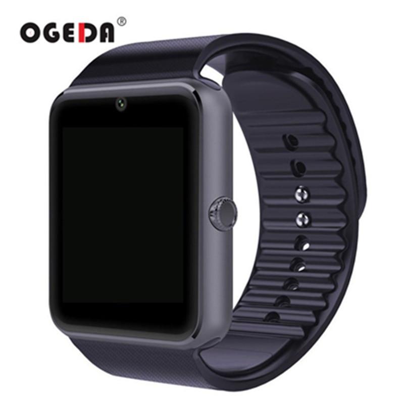 OGEDA Smart Vigilanza di Modo Degli Uomini GT08 di Sincronizzazione di Notifier Carta di Sostegno Sim Connettività Bluetooth per IOS Android Smartwatch Orologio di Gomma