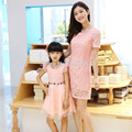 Parent Family Set new summer style 2016 lace Organza dress Mother and daughter sets Girls Women's clothing High quality dress