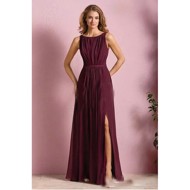 Vestidos largos vinotinto