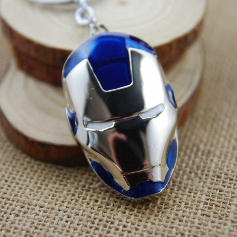 Marvel The Avengers Kim Loại Sắt Người Đàn Ông Keychain Captain America Mỹ Movie Chuỗi Keychain