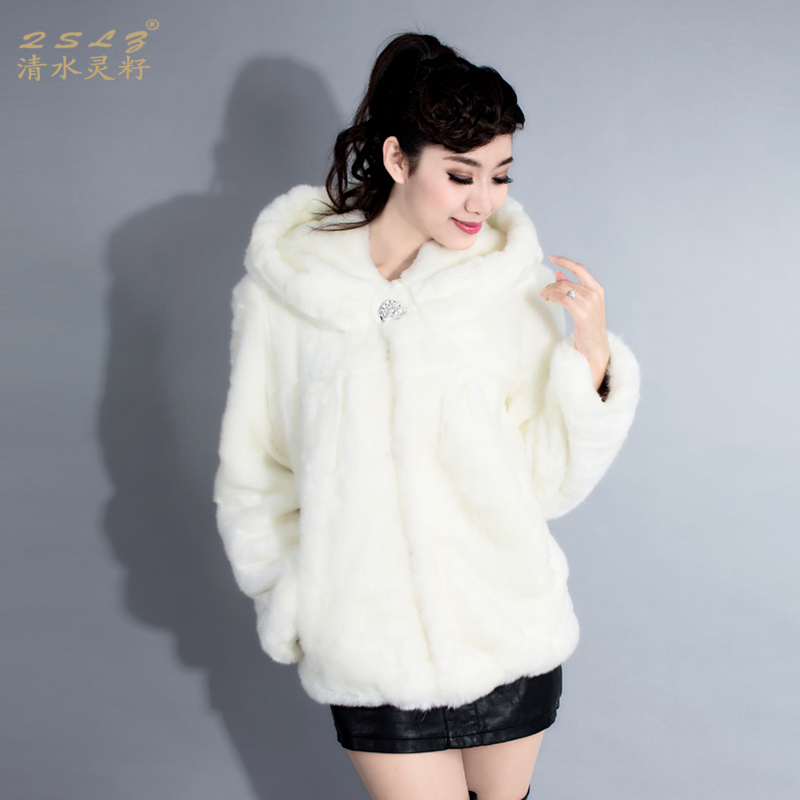 High Quality Blue Hooded Faux Fur Jacket-Buy Cheap Blue Hooded ...
