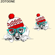 ZOTOONE Funny Dog Patches Stickers Washable Household Iron On Heat Transfer DIY Decoration Applique For Coat Clothes C