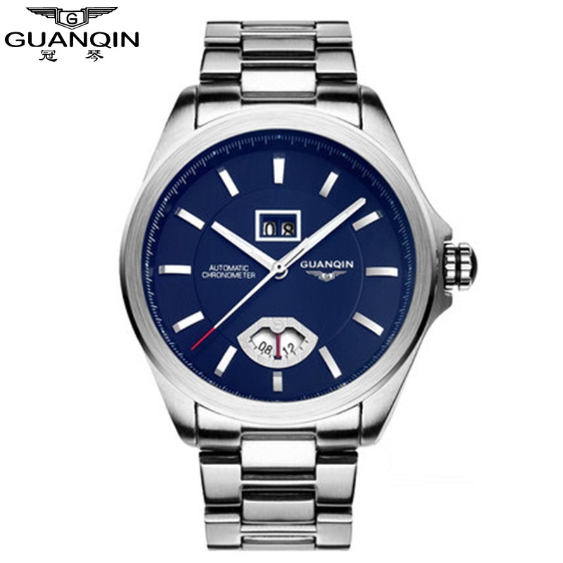GUANQIN Men's Watch Luxury Watch Men, New Automatic Watch Men, Automatic Mechanical Watches Men Relogio Masculino montre homme unique smooth case pocket watch mechanical automatic watches with pendant chain necklace men women gift relogio de bolso