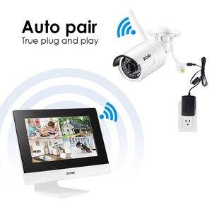 "Image 4 - ZOSI 4CH CCTV מערכת אלחוטי 960P 10 ""LCD NVR אבטחת מצלמה מערכת 1.3MP IR חיצוני P2P Wifi IP מצלמה מעקב ערכת 500GB"