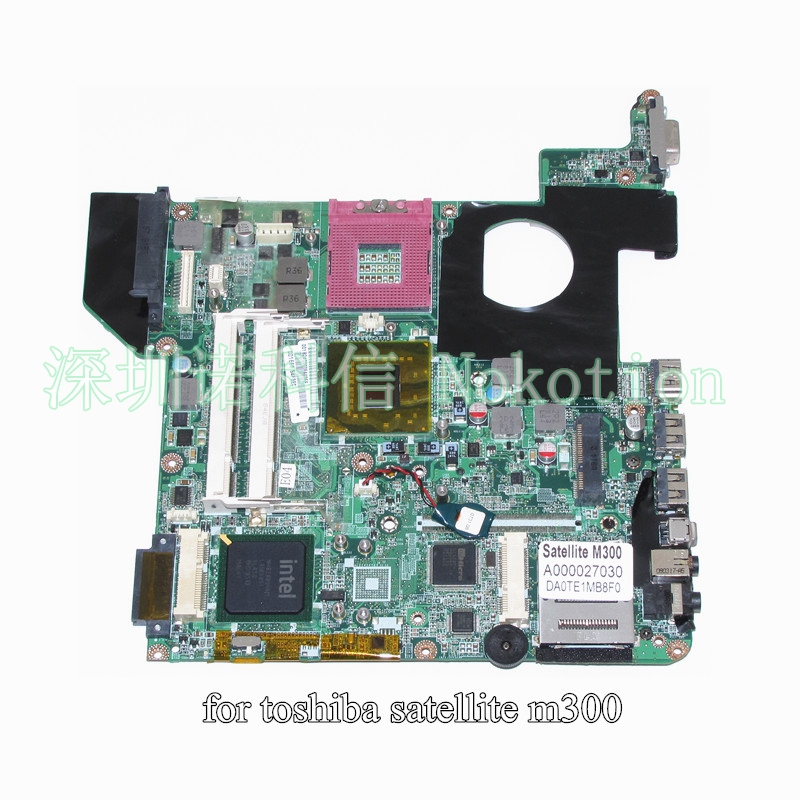 ФОТО A000027030 DA0TE1MB8F0 For toshiba satellite M300 M305 laptop motherboard GL960 DDR2 without graphics slot