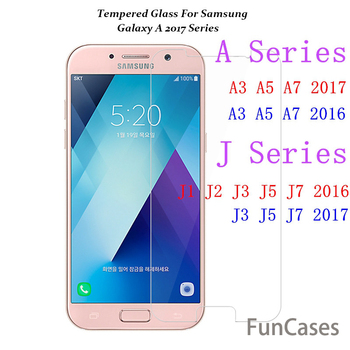 Tempered Glass For Samsung Galaxy A8 +2018 A3 A5 A7 2017 S3 S4 S5 S6 Note3 4 5 J1 2 J3 J5 J7 A3 A5 A7 2016 Screen Protector Film image