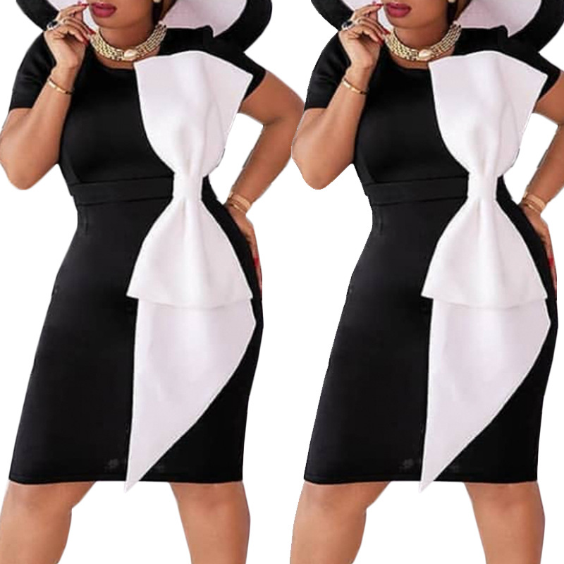 2019 New Arrival Sexy Fashion Style African Women Polyester Plus Size Dress S-XXL