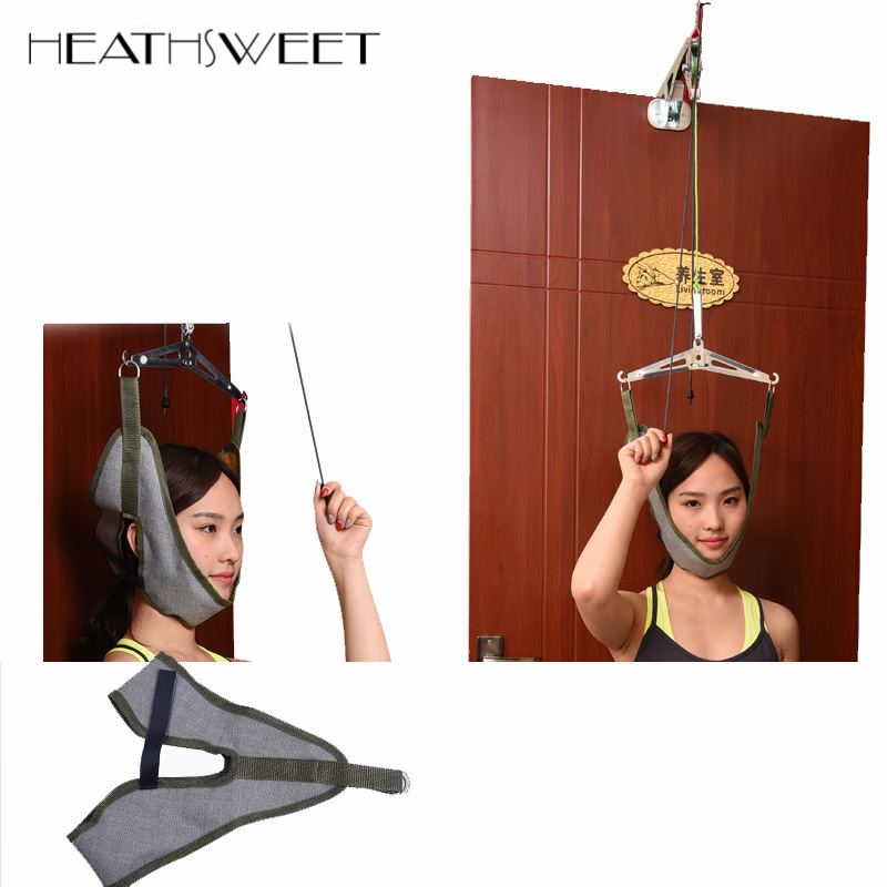 Healthsweet Over Door Neck Pain Relief Massager Cervical Traction Device Kit Stretch Neck Back Stretcher Adjustment Strain Home soft laser healthy natural product pain relief system home lasers