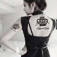 5Pcs The Luxury Crown Temporary Tattoos Stencils 3D Waterproof Transfer Tattoo Stickers For Women And Man Fake Tatoo Body Art