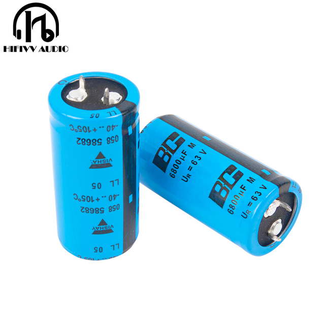 "Hifivv אודיו לפנה""ס 63V 6800UF אלקטרוליטי קבלים HIFI אודיו מגבר אלקטרוני רכיב 25mm * 50mm"