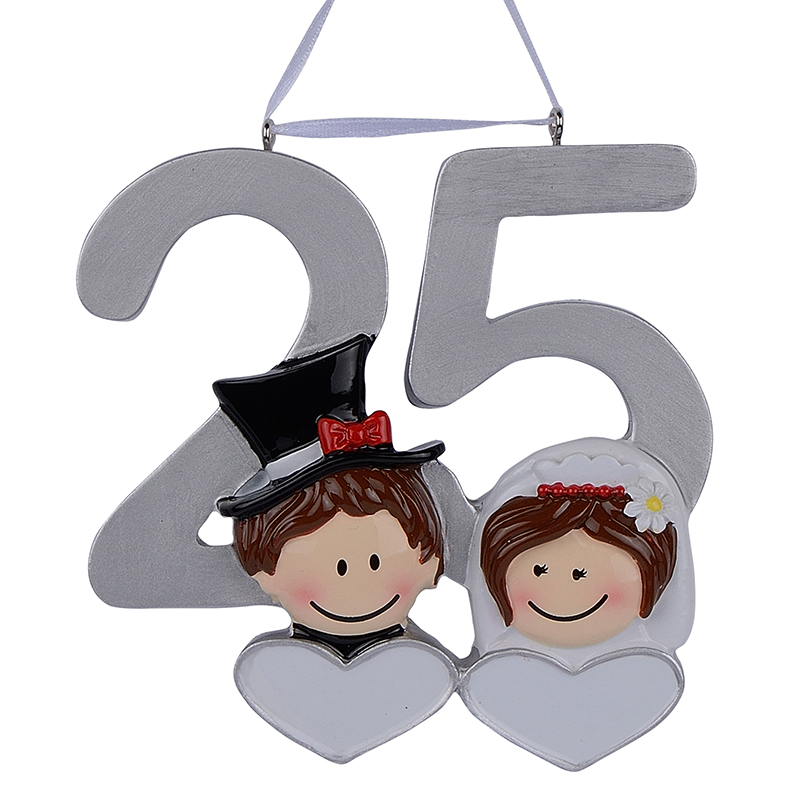 Diy Wedding Anniversary Gifts: Personalized Resin Diy Memorial Christmas Ornaments 25th