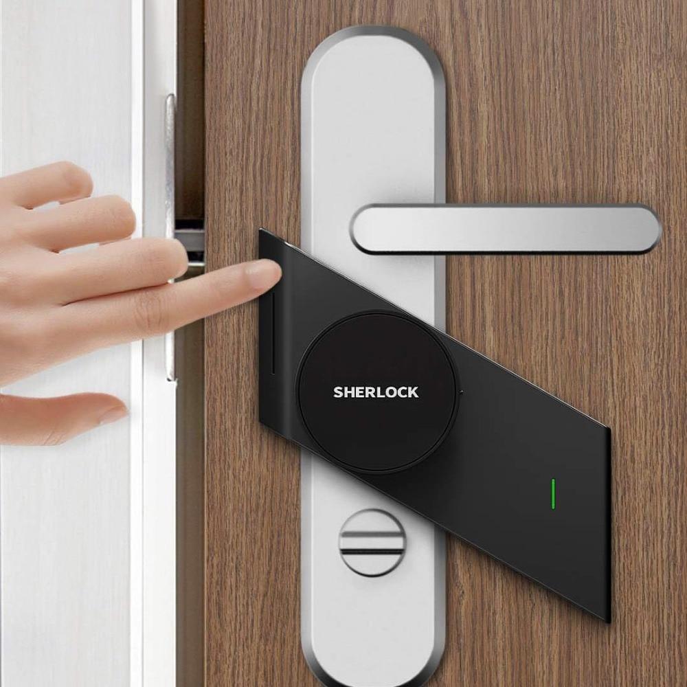 שרלוק S2 חכם מנעול דלת Keyless מנעול טביעת אצבע + סיסמא כדי אלקטרוני דלת מנעול אלחוטי App Bluetooth שליטה