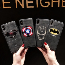 Marvel The Avengers Superman Iron Man Phone Cover Case For Iphone X Xs Max Xr 10 8 7 6 6s Plus Luxury Pu Leather Coque Fundas