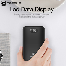 hot deal buy cafele 8000mah mobile power bank for usb iphone samsung xiaomi led universal power bank charger external battery big capacity