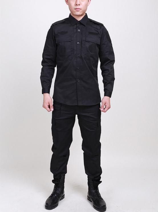 Hot 2019 Guarda de Segurança Ao Ar Livre Multi-calças Bolso Macacão uniforme de Combate da longo-luva Trainning Exercício Conjuntos uniformes militares Dos Homens