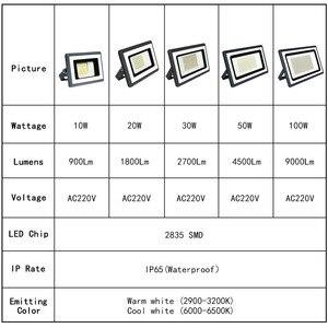 Image 3 - Foco LED para exterior Reflector, lámpara de pared, 220V, cuadrado, para jardín, 10W, 20W, 30W, 50W, 100W