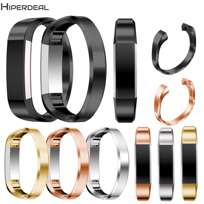 HIPERDEAL Replacement 4 Colors Luxury Stainless Steel 185mm Bracelet Watch Band Strap For Fitbit Alta HR Smart Watch 2017 OC10A