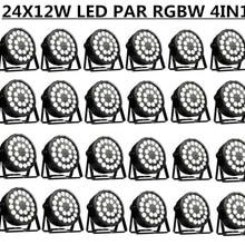 24 шт./24X12 W светодиодный PAR-прожектор RGBW 4in1 par огни/Дискотека dmx512 управления стирка свет этап Пар светодиодный Профессиональный dj оборудование