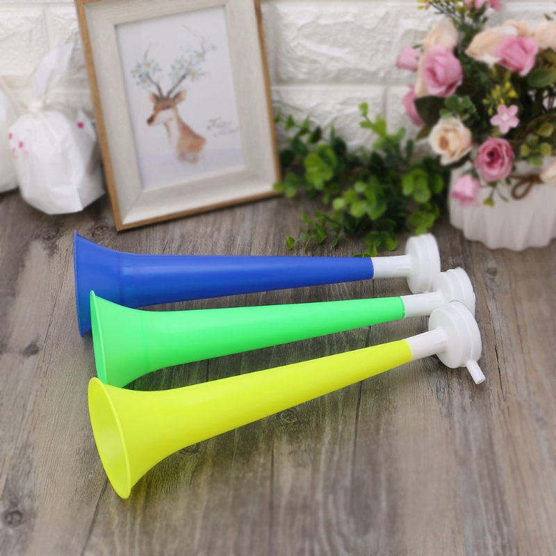 Cheer Plastic Horn Football Game Fans Cheerleading Props Vuvuzela Kid Trumpet