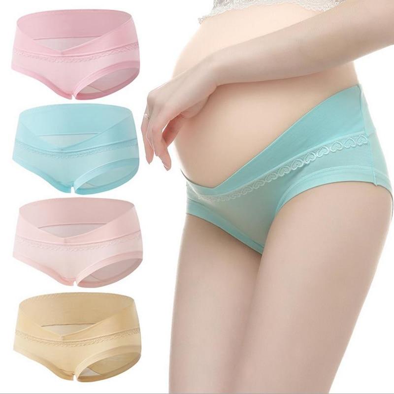 5Pcs/Lot Plus Size XXL Cotton Maternity Panties Briefs Pregnant Women Underwear U-Shaped Low Waist Maternity Underwear XL300