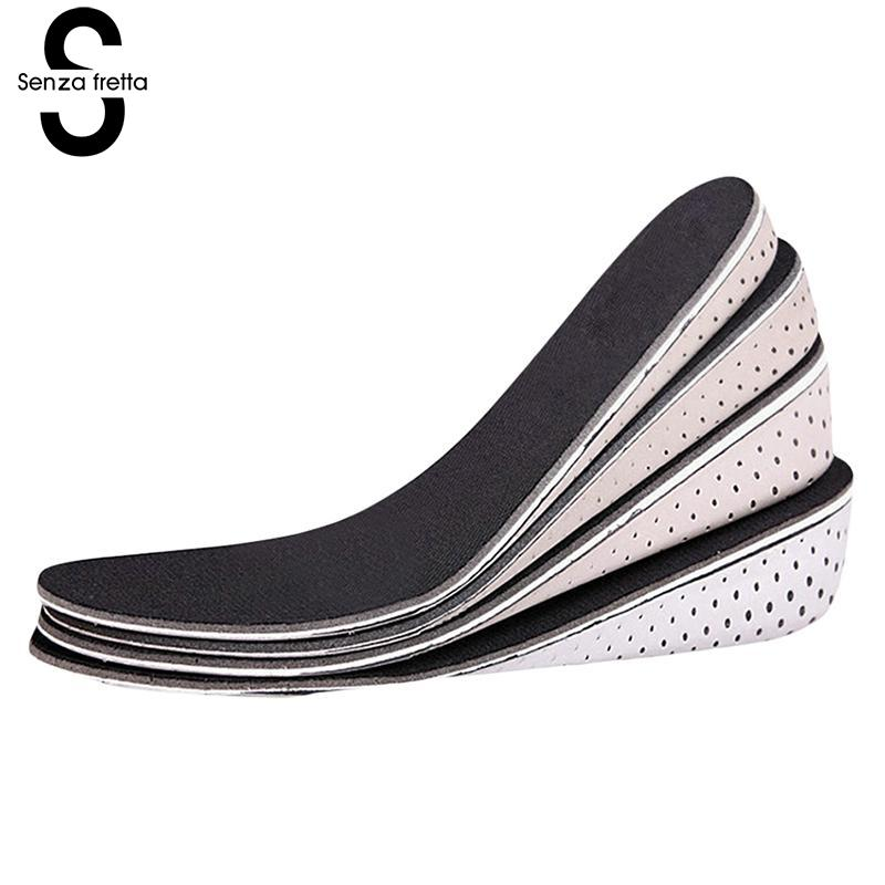 Senza Fretta Insoles Men Women Increase Height High Full Insoles Memory Foam Shoe Inserts Cushion Pads Insoles LDD0395 men women increase height high half insoles memory foam shoe inserts cushion pads 4 3cm 1 7in