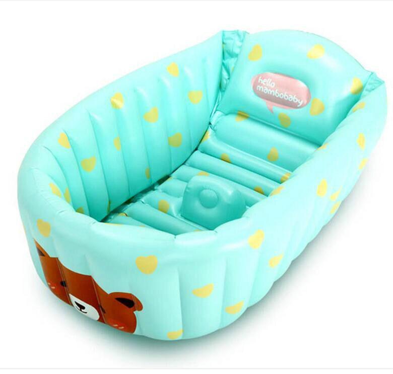 Большие надувные Бассейны новорожденных детская Для ванной ванна детская Для ванной утолщение изоляции негабаритных складной