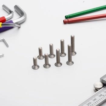 TonKing Titanium Screws GR5/TC4 Fastener Metric Titanium DIN7991 M5 Countersunk head hex bolt 50 pcs