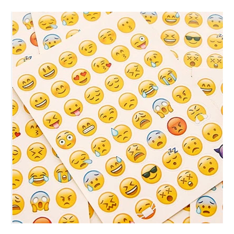 10pcs/set Cute Lovely 480 Die Cut Emoji Smile Sticker For Notebook Expression Message High Vinyl Funny Creative 5 sheets cut sticker 48 emoji smile face stickers for notebook laptop message twitter large viny instagram