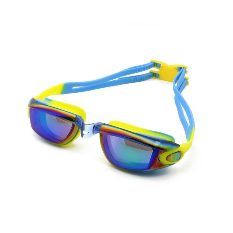 00446abbc7 Colorido chapado impermeable Anti-niebla caja gafas profesional adulto gafas  de natación Anti-UV