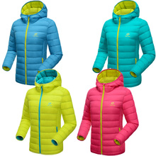 2016 New Winter Women 90% White Duck Down Jacket Women's Hooded Ultra Light Down Jackets Warm Winter Coat Parkas Pocketable