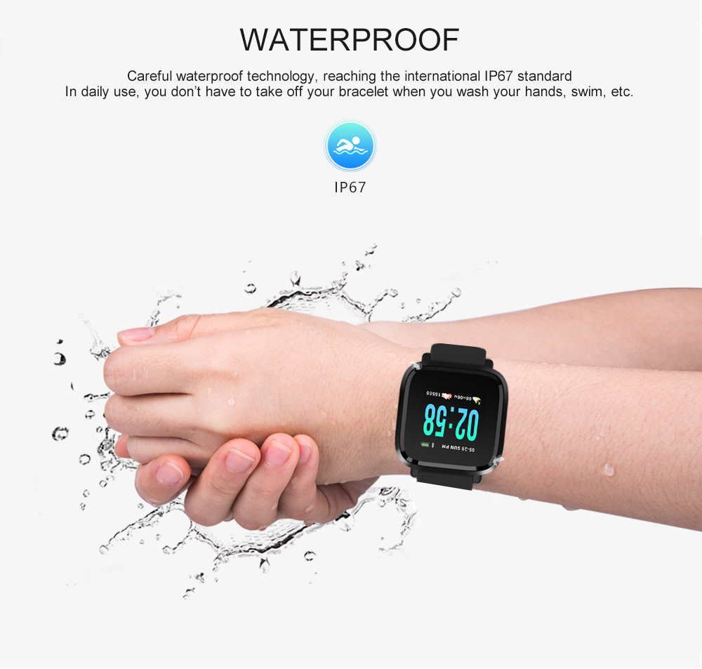 Y8 Smartwatch Wearable Device Bluetooth IP67 Waterproof Pedometer Heart Rate Monitor Color Display Smart Watch For AndroidIOS (10)