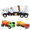 1:24 Pull Back Concrete Mixer Car Toy Truck Model Excavators Dumpers Diecasts Vehicles Toy for Boys Random Color