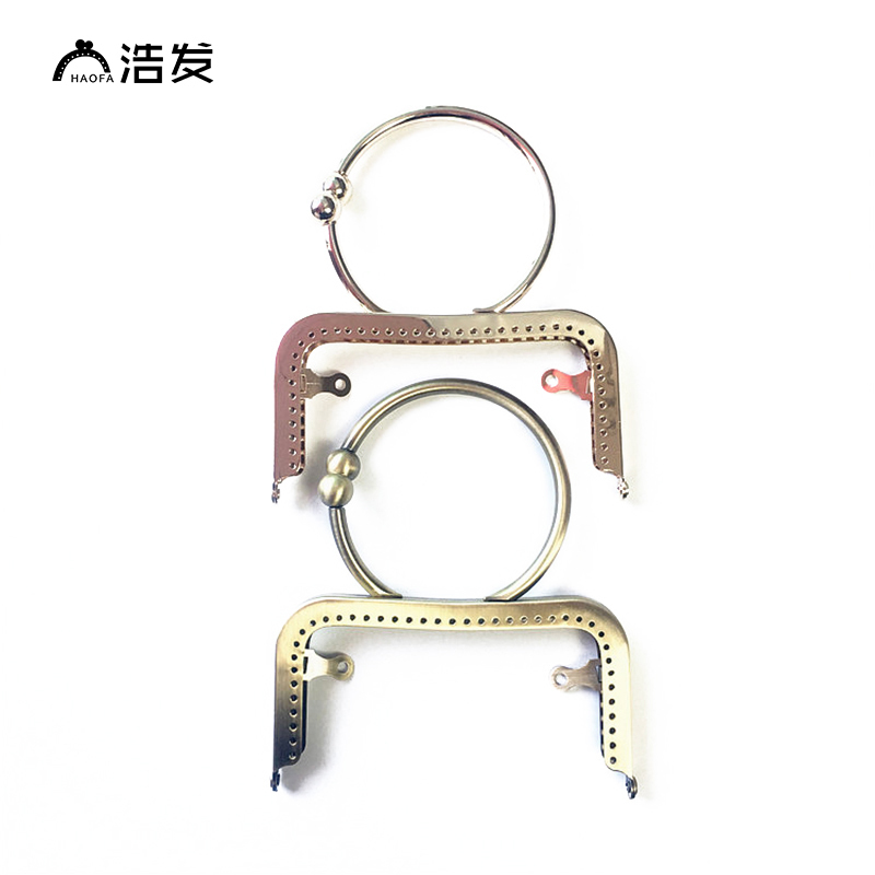 Efficient Haofa 12.5cm Metal Purse Frame Rhinestone Bracelet Clasp Lock Handle For Coin Purse Making Diy Bag Accessory Antique Bronze Modern And Elegant In Fashion Luggage & Bags