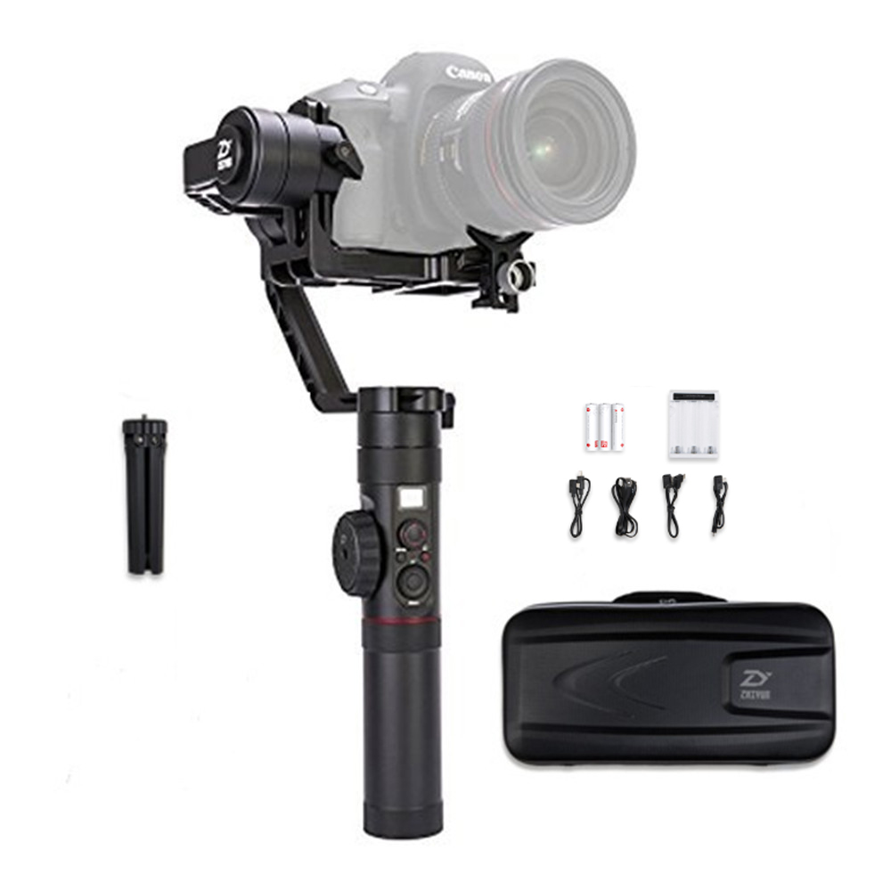 Zhiyun Crane 2 3 Axis Handheld Gimbal Stabilizer with Real Time Follow Focus Control,OLED Display Support for DSLR Cameras yuneec q500 typhoon quadcopter handheld cgo steadygrip gimbal black