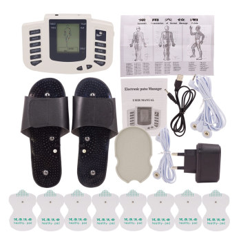 16PADS En RU ButtonElectric body massage Tens Acupuncture Therapy Machine Electrod Pads Muscle Stimulator Slimming Healthy care