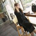 Весной и летом беременных женщин dress длинными рукавами материнства dress elastic cotton dress длинная юбка
