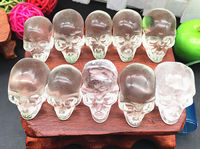 10PCS Tiny Natural White Clear Quartz Crystal Skulls Carved By Hands