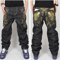 Hip Hop Jeans Men 2017 New Fashion Black Jeans Baggy Loose Fit Hiphop Skateboarder Jeans Homme Robin Jeans Mens Dsq