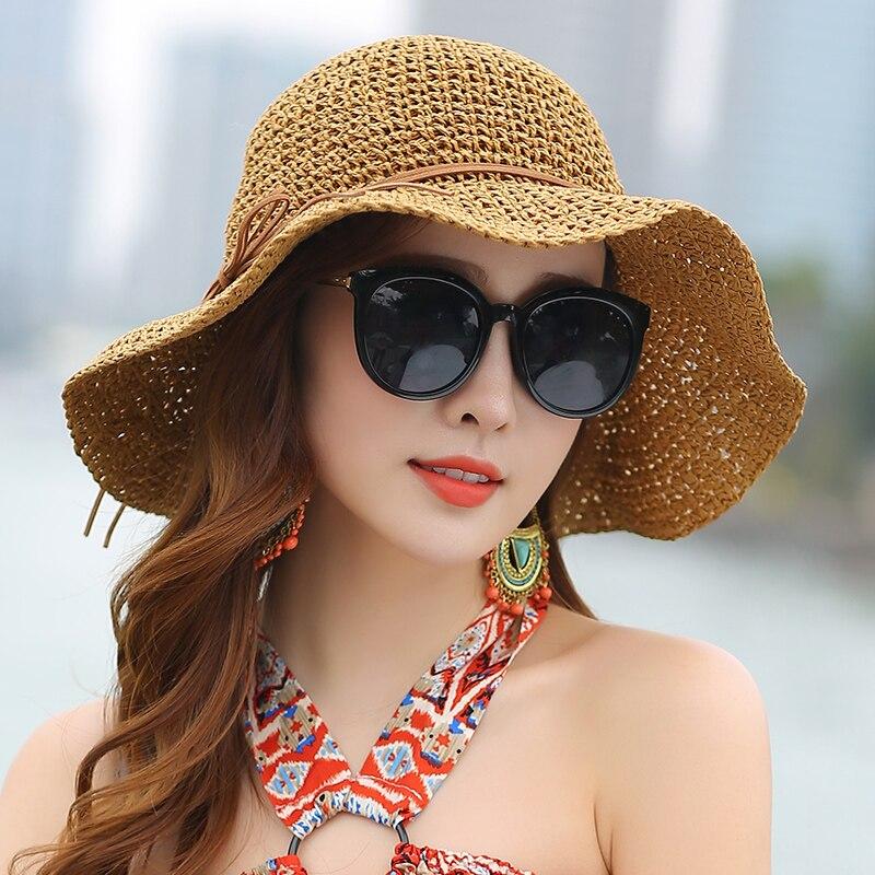 Princess Sweet Straw Hat Vuxen Mjuk Straw Sun Cap Flickor Beach Sun - Kläder tillbehör - Foto 3