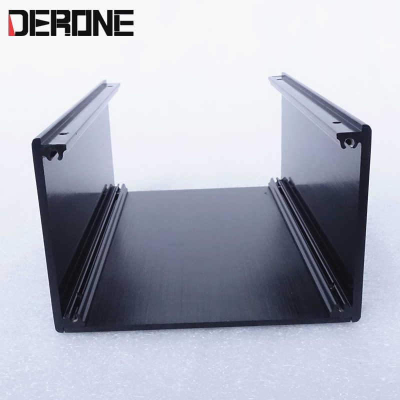 Terisolasi Kotak Amplifier Chassis Preamplifier Case 140*90*209 Mm Aluminium Kandang Power Perumahan 1409P